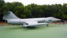 Taiwanese F-104J parked as a museum display