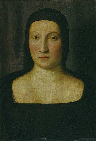 Portrait of Emilia Pia da Montefeltro - Image: Raffaello, ritratto di maria pia da montefeltro
