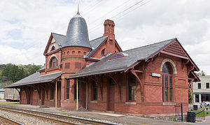 National Register of Historic Places listings in Garrett County, Maryland - Image: Railroad Station Oakland 2012