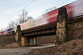 Railroad bridge freight train bypass Tiergarten Kirchrode Hannover Germany 01.jpg
