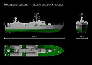 Osa-class missile boat - Osa I (Project 205) craft