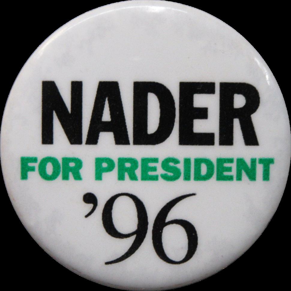 Ralph Nader 1996 button 00