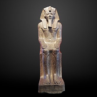 Édouard Naville - Statue of Ramesses II found by Naville at Bubastis, on display at Musée d'Art et d'Histoire in Geneva.