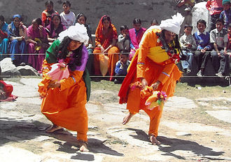 Ramman (festival) - Ramman performance