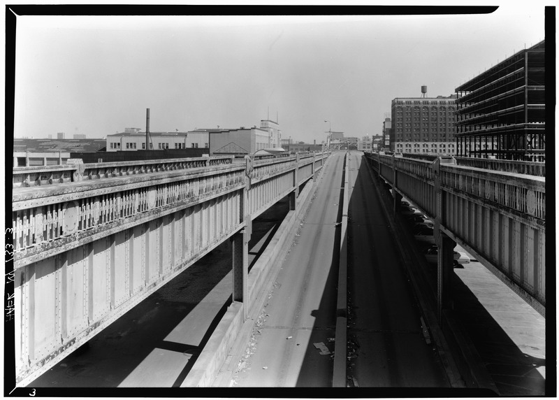 File:Ramps at Chambers St. looking N. - West Side Highway, New York, New York County, NY HAER NY,31-NEYO,88-3.tif