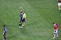 Ranocchia yellow card Inter-Milan february 2013.jpg