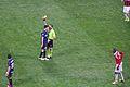 Ranocchia yellow card Inter-Milan february 2013.jpg