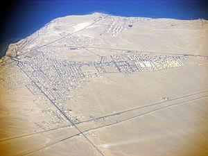 Ras Gharib - Image: Ras Ghareb from air