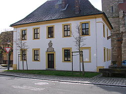 Historic town hall in Obertheres