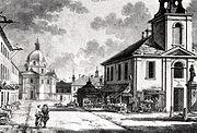 Zygmunt Vogel, Rynek Nowego Miasta z ratuszem (po prawej)