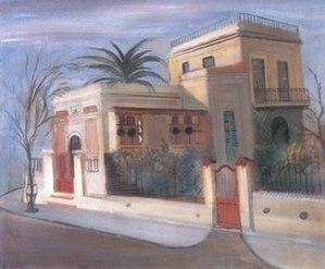 Raúl Soldi - Landscape of Villa Ballester (1935)