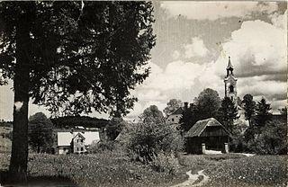 Fara, Bloke Village in Inner Carniola, Slovenia