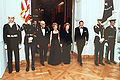 Reagans and Thatchers walk at state dinner.jpg