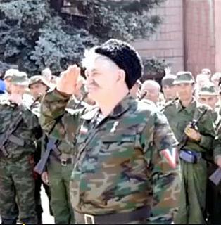 ukrainischer Geschäftsmann und Rebellenkommandant