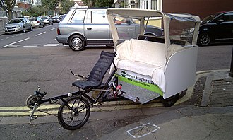 Cycle rickshaw - Recumbent style cycle taxi/pedicab in London
