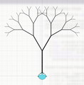 Recursive Fractal Tree - Turtle Mode on Go Play Space.png