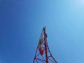 steel roller coaster at Ferrari Land in Spain