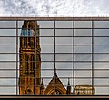 Reflection of St Columba Church of Scotland, Glasgow, Scotland 11.jpg