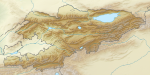 Location map Kyrgyzstan is located in Kyrgyzstan