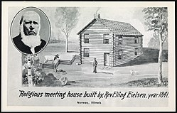 Religious meeting house built by Rev. Elling Eielsen, year 1841, Norway, Illinois (36515576696).jpg