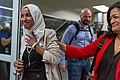 Representatives Ilhan Omar and Pramila Jayapal arrive at MSP Airport (48318918102).jpg