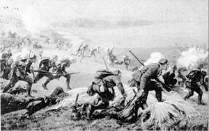 Battle of Jastków - Polish infantry charge