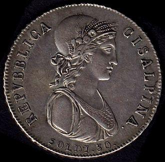 Cisalpine Republic - Image: Repubblica Cisalpina 30soldi 1801