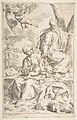 Rest on the flight into Egypt, Mary holding the infant Christ while St. Joseph hands him a fruit MET DP815024.jpg