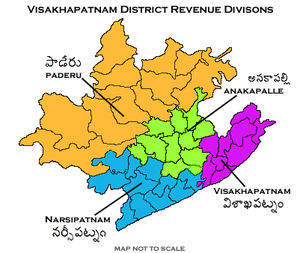 Visakhapatnam district - Revenue divisions of Visakhapatnam district