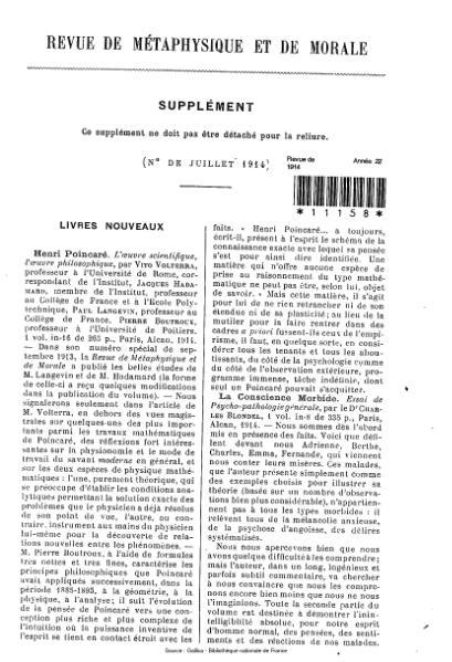 File:Revue de métaphysique et de morale, supplément 4, 1914.djvu