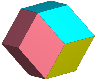Rhombic dodecahedron - Image: Rhombic dodecahedron 4color