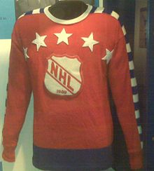 7707711f4aa Jersey worn by Maurice Richard during the 1949 All-Star Game.
