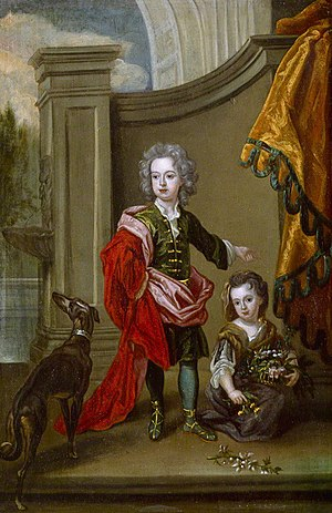 Richard Boyle, 3rd Earl of Burlington - Portrait of Richard Boyle as a boy, with his sister Lady Jane Boyle, ca. 1700.