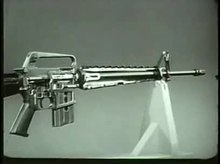 File:Rifle 5.56mm, XM16E1, Operation and Cycle of Functioning TF9-3663.webm