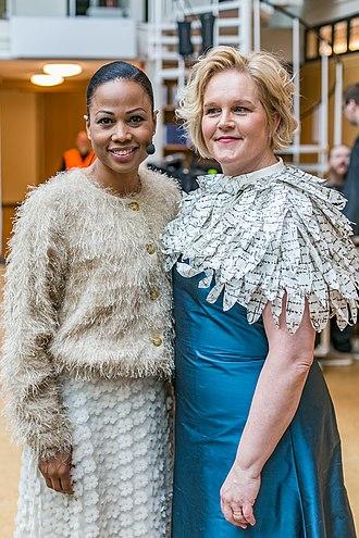 2019 European Parliament election in Sweden - Image: Riksarkivet 400 år Alice Bah Kuhnke, Karin Åström Iko