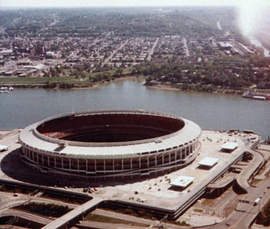 Riverfront Stadium in Cincinnati, Ohio