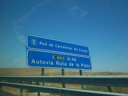 Road Sign Ruta De La Plata.JPG