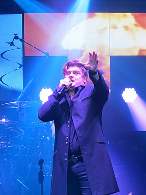 Rob Evan - Rob Evan performing with the Trans-Siberian Orchestra in 2014