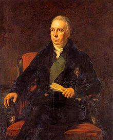 Olajfestmény Robert Dundas, egy karosszékben ülve