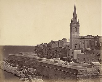 St Paul's Pro-Cathedral, Valletta - St Paul's Pro-Cathedral around 1856
