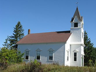 Brooklin, Maine - Rockbound Chapel, completed in 1902