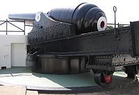Rear view of the 100-ton gun