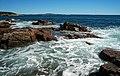Rocky shore & waves (next to Thunder Hole, Mt. Desert Island, Maine, USA) 5.jpg