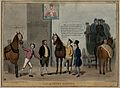 Roebuck attempts to exchange a horse with the head of Lord D Wellcome V0050241.jpg