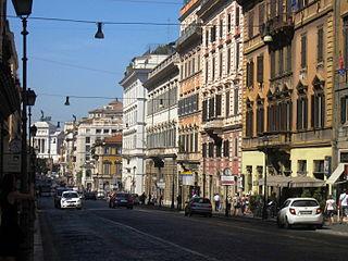Via Nazionale (Rome) thoroughfare in Rome, Italy
