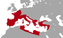 Roman provinces on the eve of the assassination of Julius Caesar, 44 BC