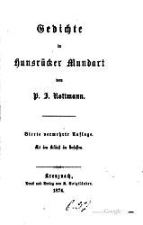 Gedichte in Hunsrücker Mundart. 4. Auflage