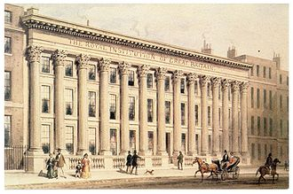 Albemarle Street - The Royal Institution in Albemarle Street (c.1838).
