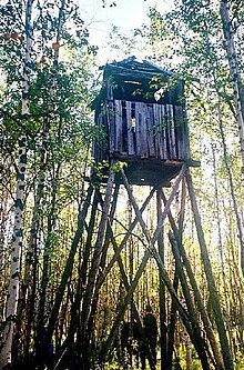 Ein wachturm des projekts 503 im plan stalins eine