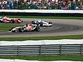 Rubens Barrichello, Jacques Villeneuve and Ralf Schumacher 2006 Indianapolis.jpg